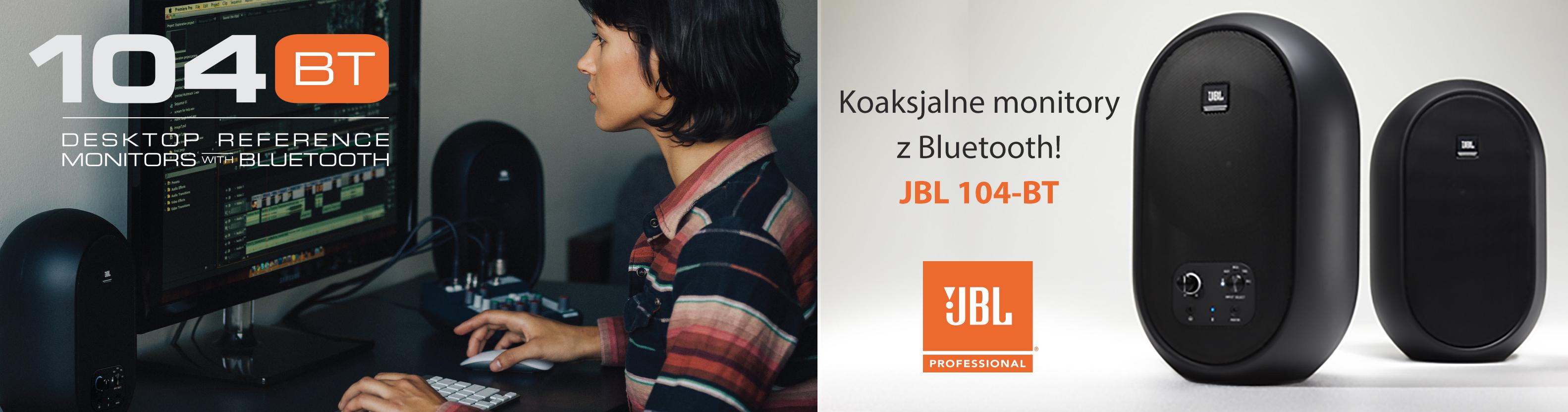 Koaksjalne monitory z Bluetooth! JBL 104-BT